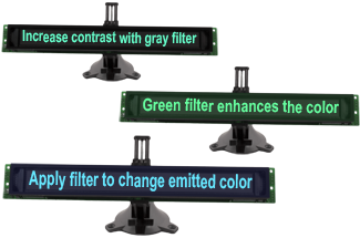 Enhance the display with the color filter