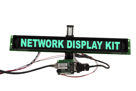 Display messages from remote location with Network Display Kit. Network Display Kit includes GU512X32H-3900 and LanPort